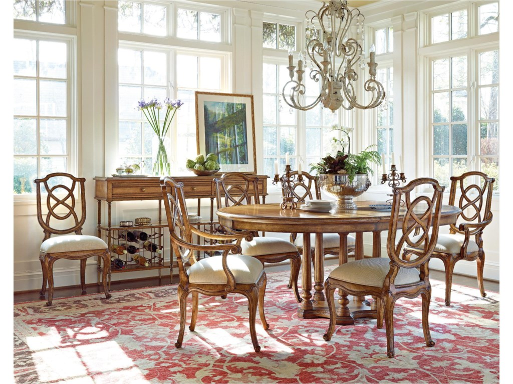 Arm Chairs Shown with Tuileries Side Chairs, Petit  Vin Sideboard, and Tour Marais Table