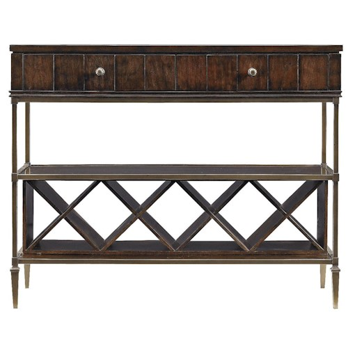Stanley Furniture Avalon Heights 2 Drawer Empire Serving Console with Removable Wine Rack