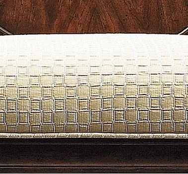 Seat Upholstered in Quilted Chrome Fabric