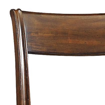 Low, Open Seat Back with Turned Wood