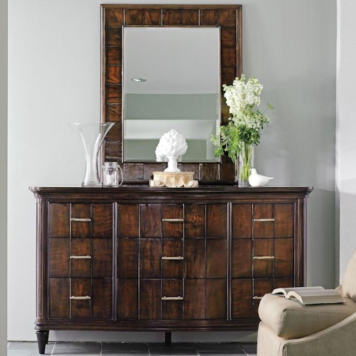 Stanley Furniture Avalon Heights 9 Drawer Swingtime Dresser and Mode Landscape Mirror Set