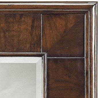 Beveled Glass Mirror with Cherry Veneer Frame