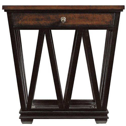 Stanley Furniture Avalon Heights Geometric Empire Drawer End Table
