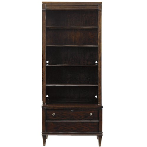 Stanley Furniture Avalon Heights Boulevard 5 Shelf Bookcase with Lateral File Drawer