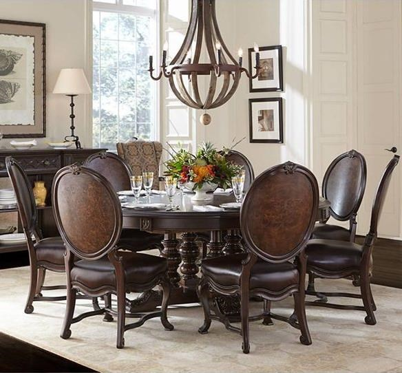 Stanley Furniture Casa DOnore 8 Piece Round Table Chair Set