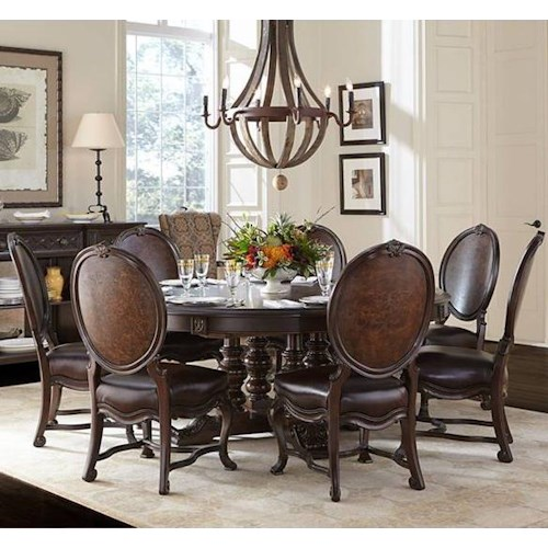 Stanley Furniture Casa D'Onore 8 Piece Round Table & Chair Set