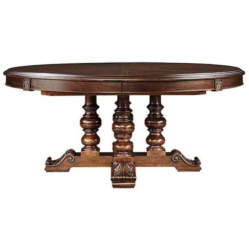 Stanley Furniture Casa D'Onore Round Table with Pedestal and Leaf