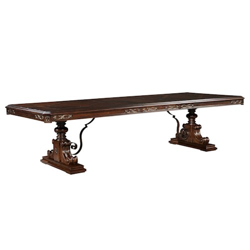 Stanley Furniture Casa D'Onore Trestle Table with Leaves