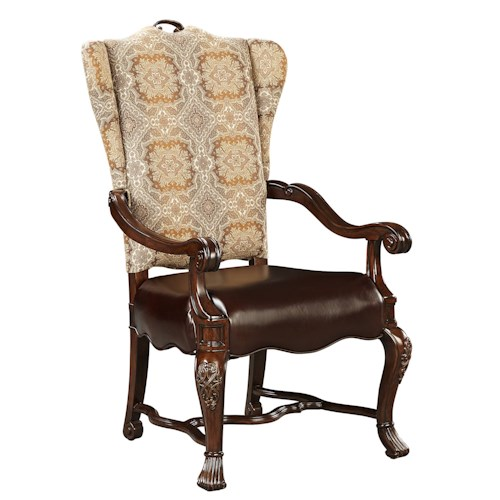 Stanley Furniture Casa D'Onore Upholstered Arm Chair with Cabriole Legs