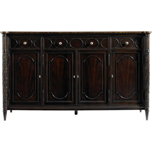 Stanley Furniture Charleston Regency East Battery Buffet with Classic Mahogany Top