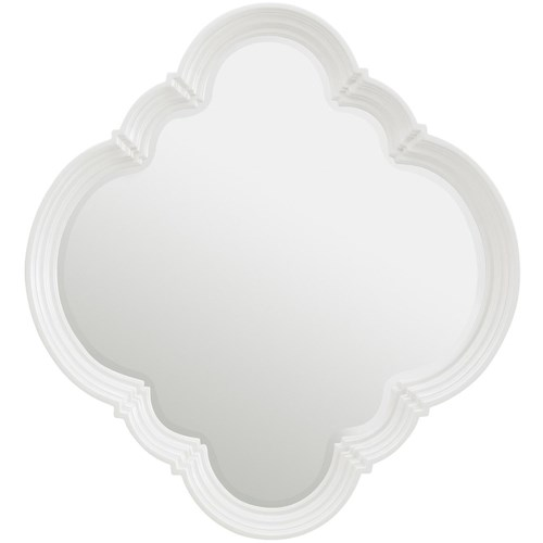 Stanley Furniture Charleston Regency Quatrefoil Wall Mirror with Step Molding