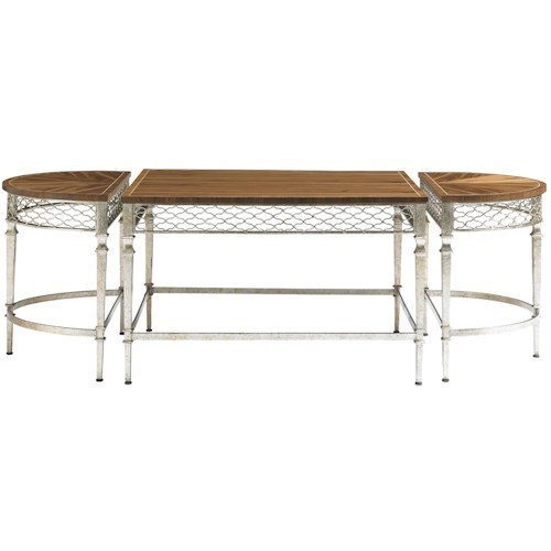 Stanley Furniture Charleston Regency 3 Piece Trinity Cocktail Table