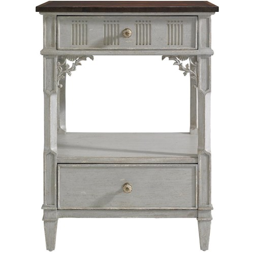 Stanley Furniture Charleston Regency Palmetto Telephone Table with Carved Foliage Detail