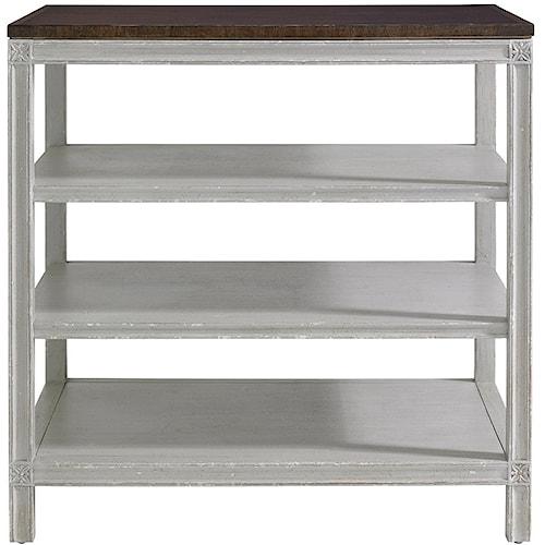 Stanley Furniture Charleston Regency Rosette Bedside Table with Open Shelving