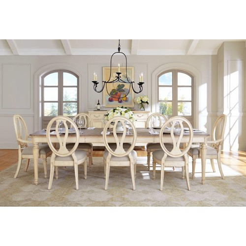 Stanley Furniture European Cottage Formal Dining Room Group