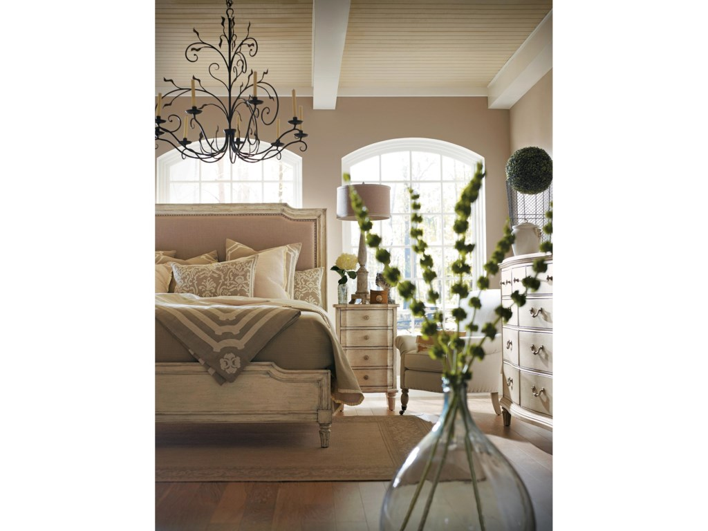 Shown with Upholstered Bed and Dresser