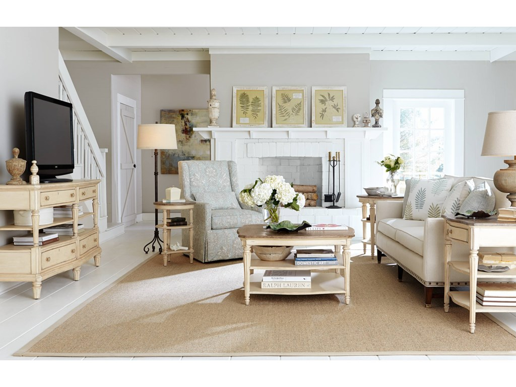 Martini Bedroom Suite Stanley Furniture European Cottage Round Martini Table With White