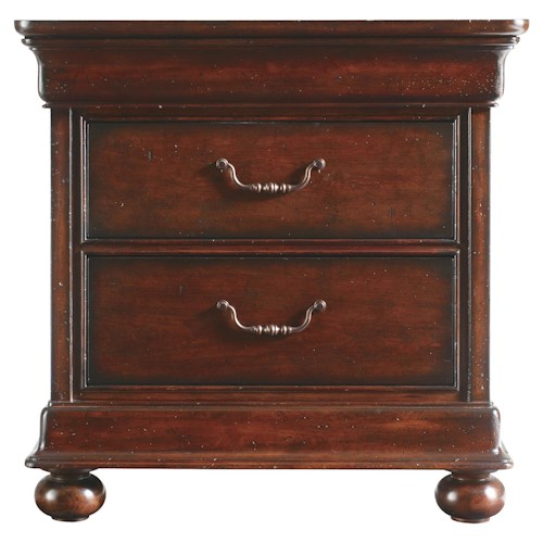 Stanley Furniture The Classic Portfolio - Louis Philippe Two Drawer Night Stand