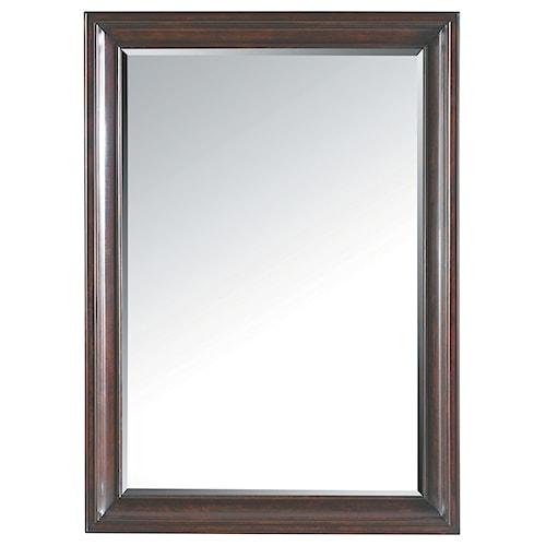 Stanley Furniture Transitional Landscape Mirror with Wood Veneer