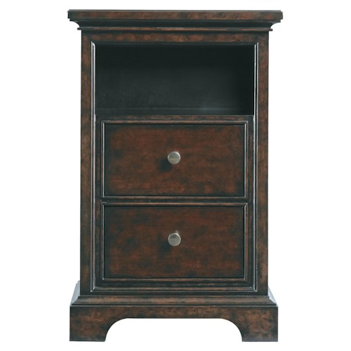 Stanley Furniture Transitional Two Drawer Telephone Table Night Stand