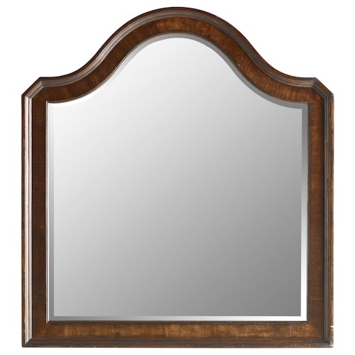 Stanley Furniture The Classic Portfolio Continental Arch Top Beveled Landscape Mirror