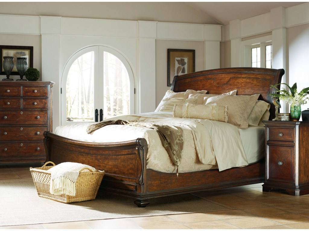 Shown with Chest and Sleigh Bed