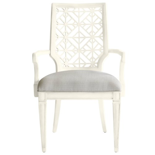 Stanley Furniture Coastal Living Oasis Catalina Arm Chair with Contemporary Geometric Backrest