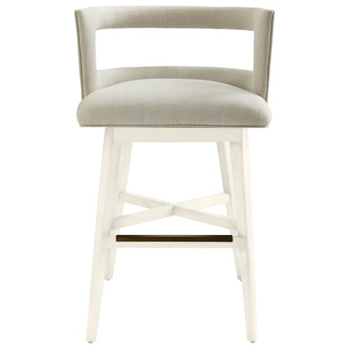 Stanley Furniture Coastal Living Oasis Crestwood Barstool with Swivel Seat