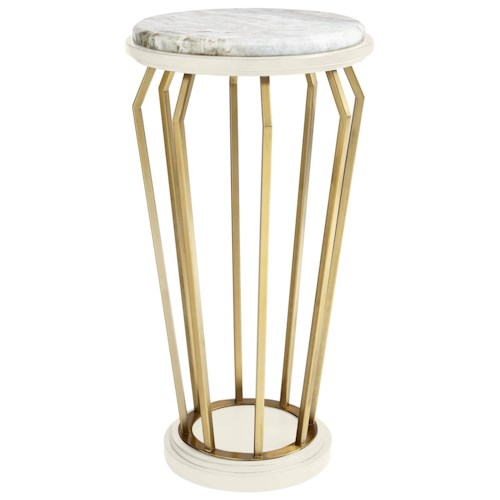 Stanley Furniture Coastal Living Oasis Manzanita Martini Table w/ Lay-On Granite Top & Brass Finish Accents