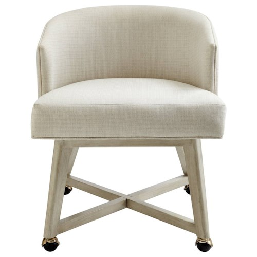 Stanley Furniture Coastal Living Oasis Carlyle Club Chair with Casters