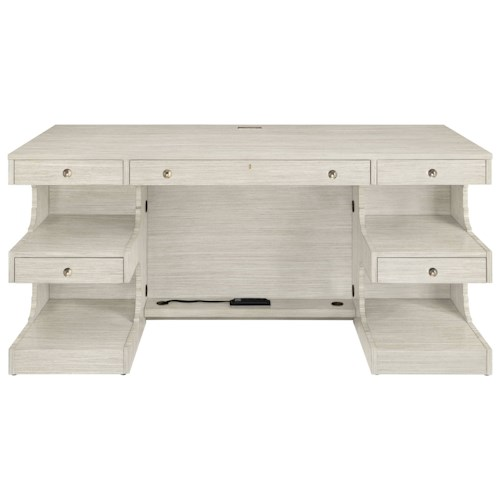 Stanley Furniture Coastal Living Oasis Cape Dutch Writing Desk with Open Shelves