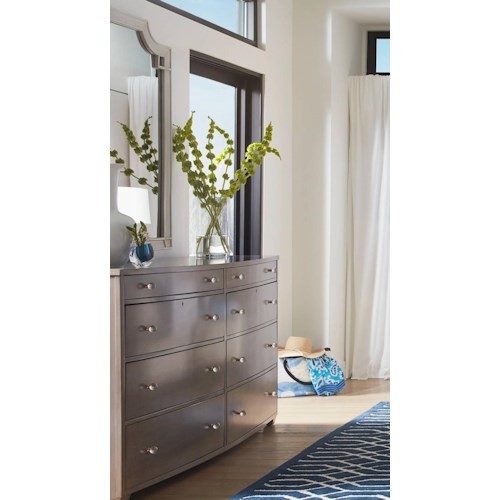 Stanley Furniture Coastal Living Oasis Ocean Park Dresser & Silver Lake Vertical Mirror