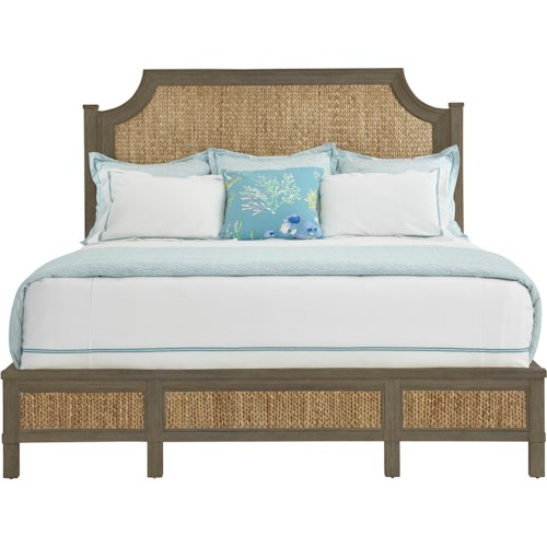 Stanley Furniture Coastal Living Resort California King Water Meadow Woven Bed