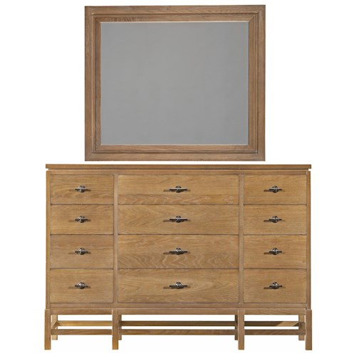 Stanley Furniture Coastal Living Resort Tranquility Isle Dresser & Day's End Mirror
