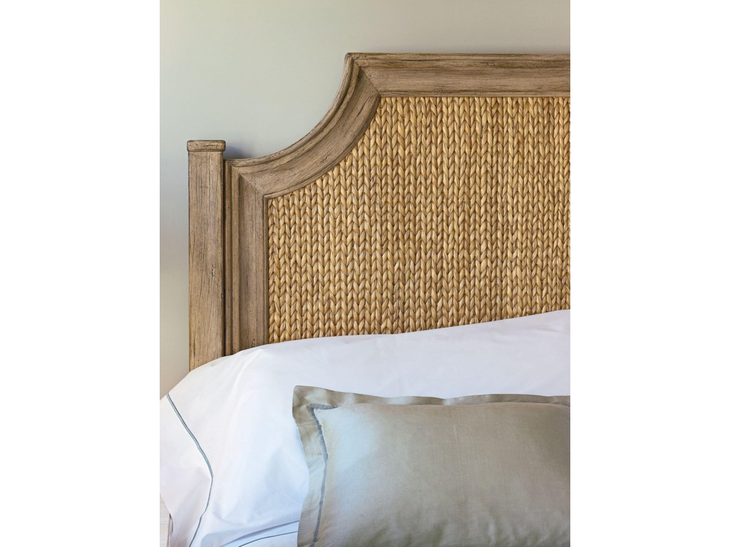 Woven water hyacinth and a Weathered Pier frame bring a contemporary feel to the Water Meadow Woven Bed.