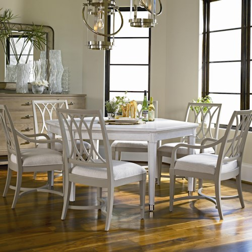 Stanley Furniture Coastal Living Resort 7 Piece Soledad Promenade Table and Chair Set