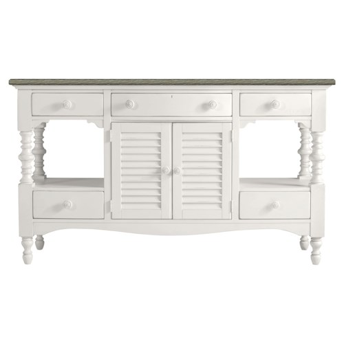 Stanley Furniture Coastal Living Retreat Buffet with Cerused Oak Top