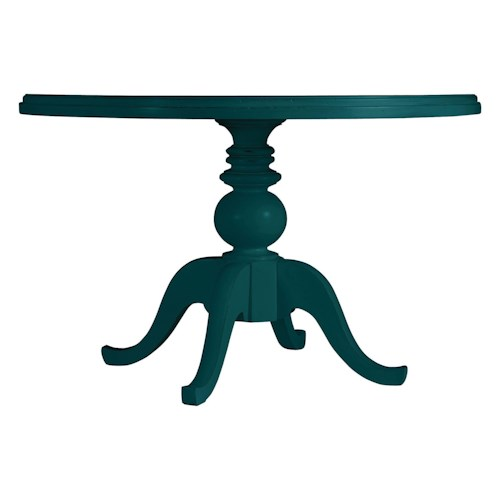 Stanley Furniture Coastal Living Retreat Round Pedestal Table, Painted Top