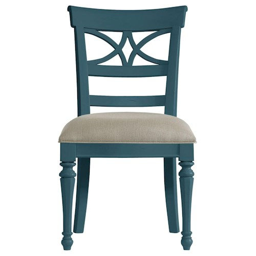 Stanley Furniture Coastal Living Retreat Sea Watch Side Chair with Upholstered Seat