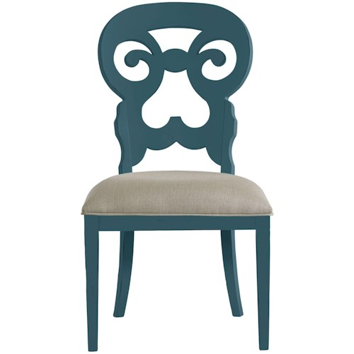 Stanley Furniture Coastal Living Retreat Wayfarer Side Chair with Upholstered Seat