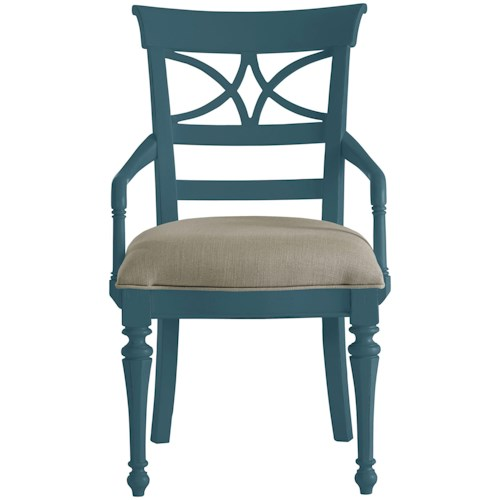 Stanley Furniture Coastal Living Retreat Sea Watch Arm Chair with Upholstered Seat