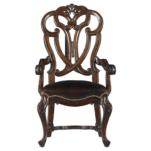 Stanley Furniture Costa del Sol Messalina's Blessings Upholstered Scroll Back Arm Chair