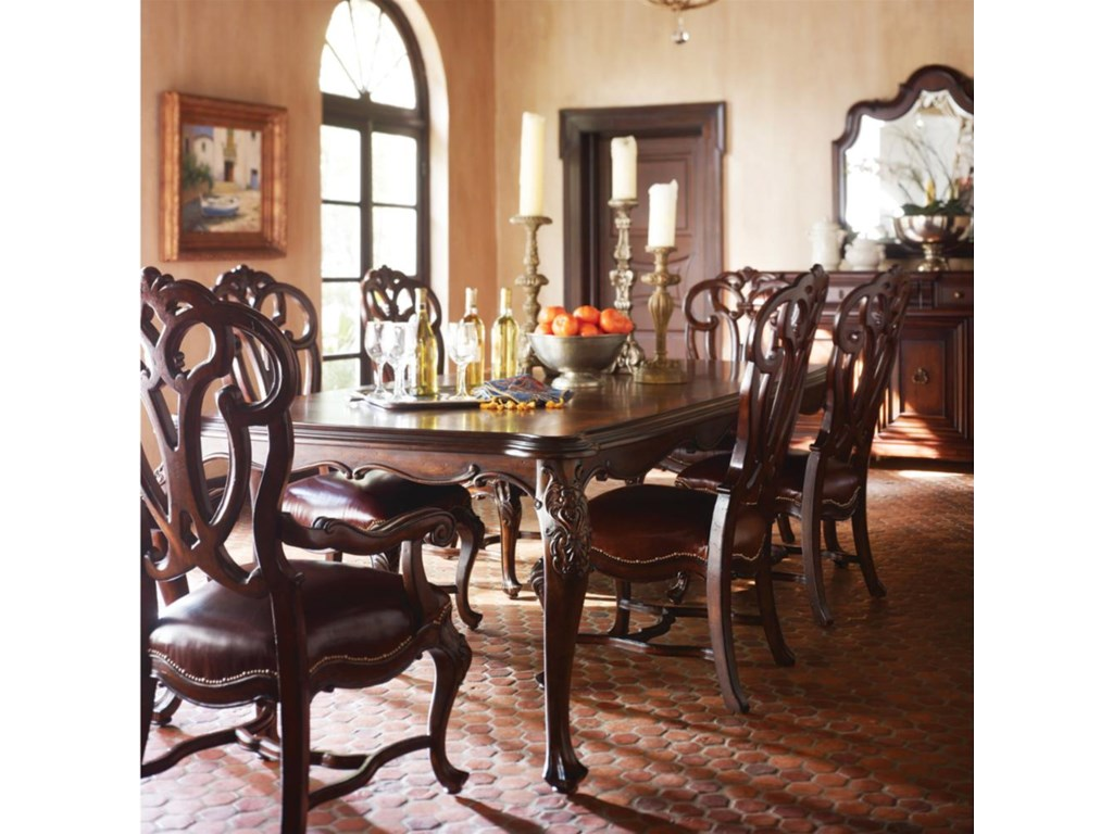 Shown with Scroll Back Side Chairs and Leg Dining Table