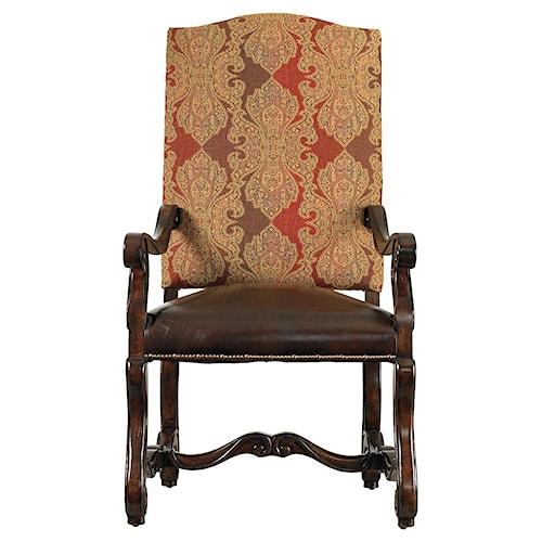 Stanley Furniture Costa del Sol Perdonato  Leather Arm Chair with Nail Head Trim