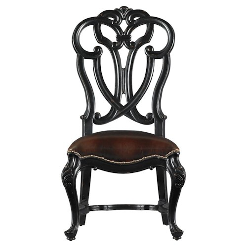 Stanley Furniture Costa del Sol Messalina's Blessings Upholstered Scroll Back Side Chair