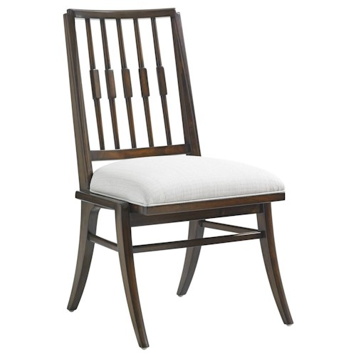 Stanley Furniture Crestaire Savoy Side Chair with Klismos Legs