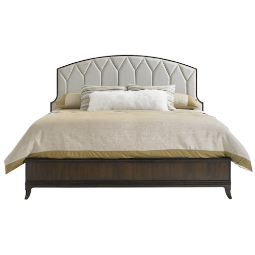 Stanley Furniture Crestaire Queen Ladera Bed with Upholstered Headboard