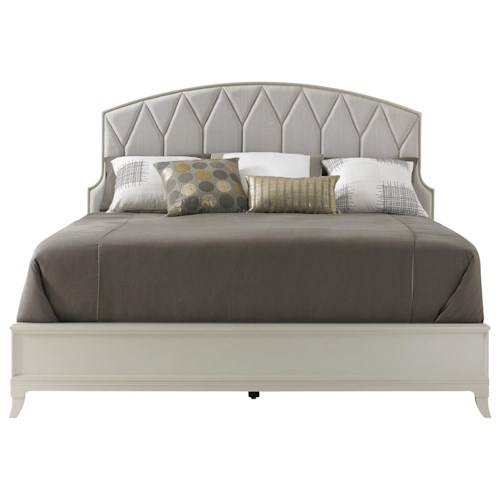 Stanley Furniture Crestaire California King Ladera Bed with Upholstered Headboard