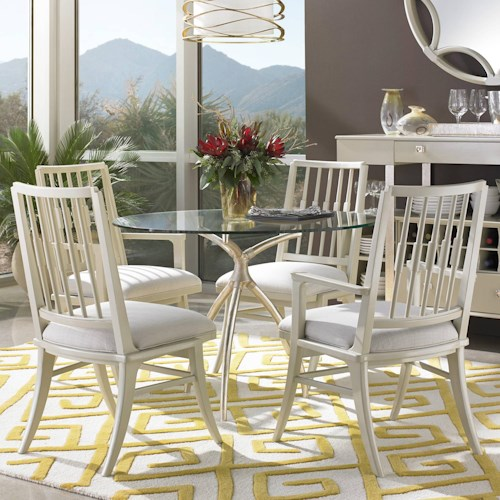 Stanley Furniture Crestaire 5-Piece Hovely Dining Table Set