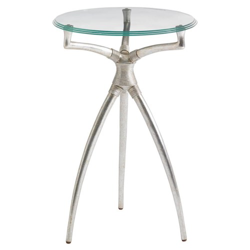 Stanley Furniture Crestaire Hovely Martini Table with Round Glass Top